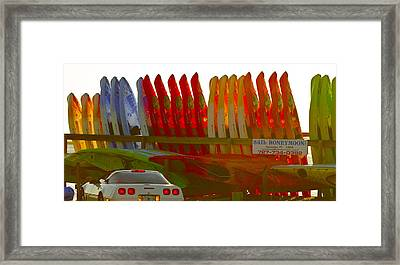 Causeway Kayaks Framed Print by Alice Mainville