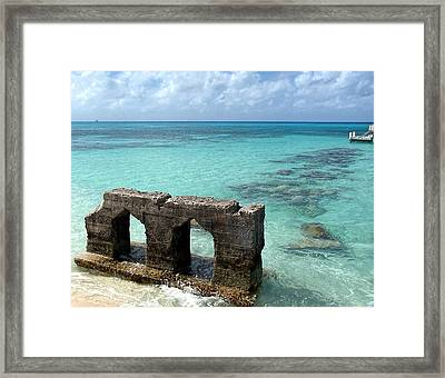 Causeways Ancient And Modern Framed Print