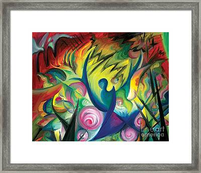 Causing A Scene Framed Print by Tiffany Davis-Rustam