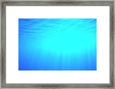 Caustic Rays Below The Sea Surface Framed Print