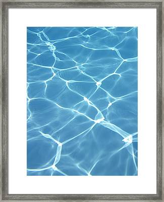 Caustic Refractions In Swimming Pool Framed Print by Science Photo Library