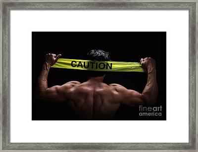 Caution Framed Print