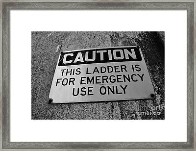 Caution Framed Print by Lynda Dawson-Youngclaus