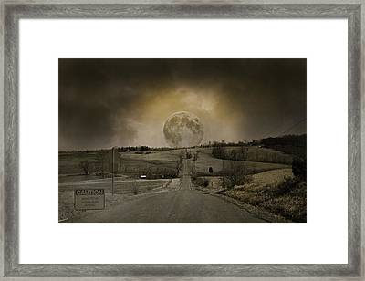Caution Road Framed Print by Betsy Knapp