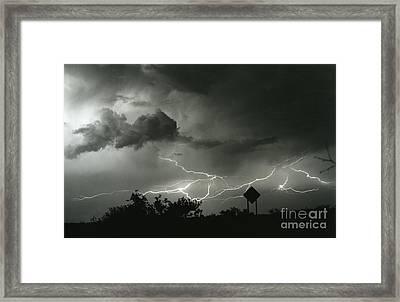 Framed Print featuring the photograph Caution Signs by J L Woody Wooden