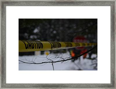 Caution - Sno-drift Rally Framed Print