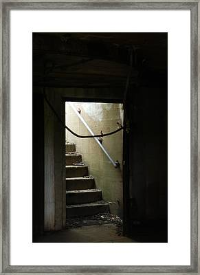 Cautionary Stairs Framed Print