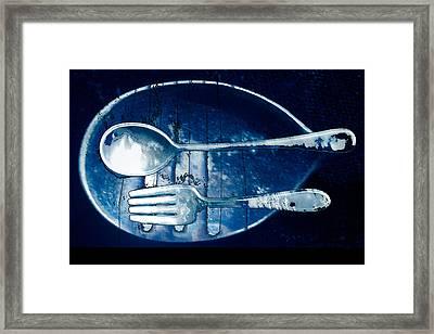Blue Luster Framed Print