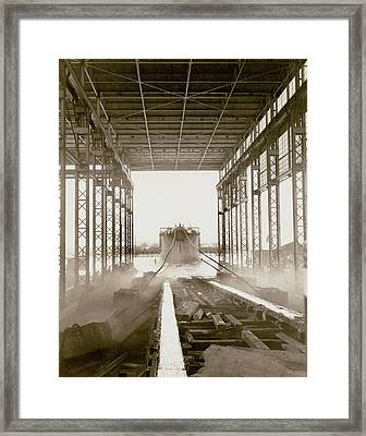 Cavalier Cargo Ship Launch Framed Print by Hagley Museum And Archive