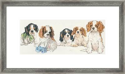 Cavalier King Charles Spaniel Puppies Framed Print
