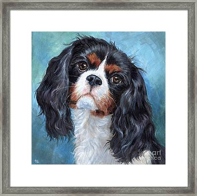 Cavalier King Charles Spaniel Framed Print by Hope Lane