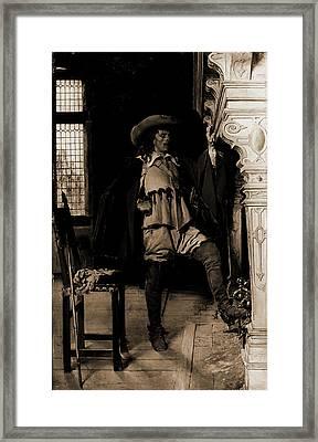 Cavalier Waiting An Audience, Meissonier, Jean Louis Ernest Framed Print