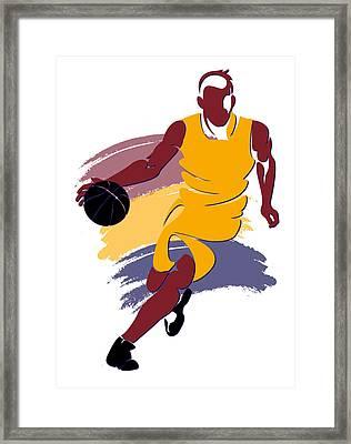 Cavaliers Basketball Player1 Framed Print by Joe Hamilton