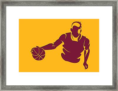 Cavaliers Shadow Player1 Framed Print
