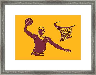 Cavaliers Shadow Player2 Framed Print