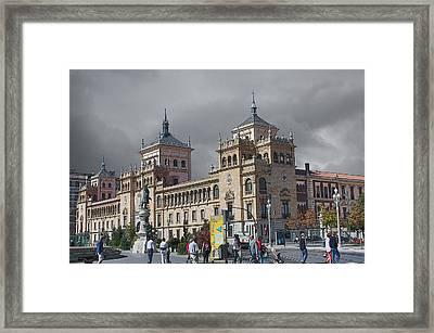 Framed Print featuring the photograph Cavalry Academy Of Valladolid  by Angel Jesus De la Fuente