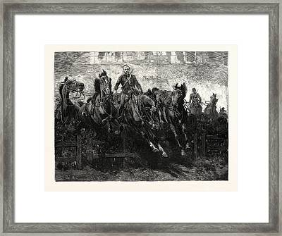 Cavalry Display By The Third Kings Own Hussars At The Royal Framed Print