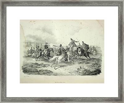 Cavalry Fight Framed Print by British Library