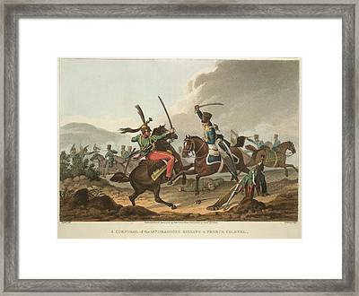 Cavalry Fighting Framed Print