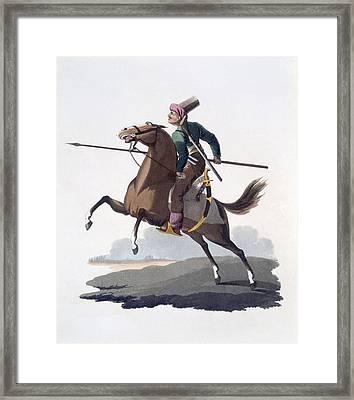 Cavalry Man, 1818 Framed Print by English School