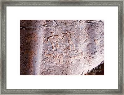 Cave Art, Wadi Rum Desert, Jordan Framed Print