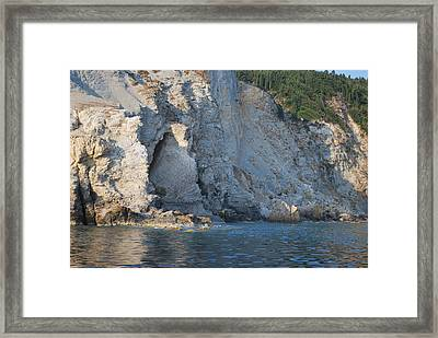 Framed Print featuring the photograph Cave By The Sea by George Katechis