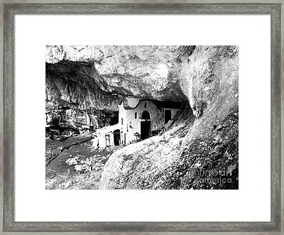 cave church on Mt Olympus Greece Framed Print by Nina Ficur Feenan