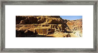 Cave Dwellings, Petra, Jordan Framed Print by Panoramic Images