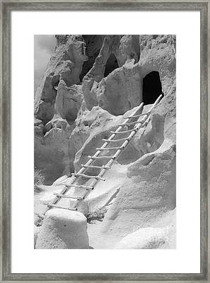 Cave Dwellings Framed Print by Sonja Quintero