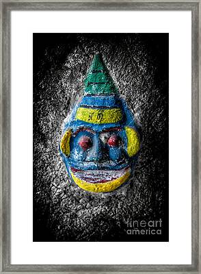 Cave Face 3 Framed Print by Adrian Evans