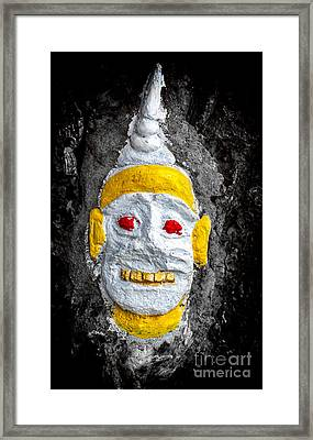 Cave Face 4 Framed Print by Adrian Evans