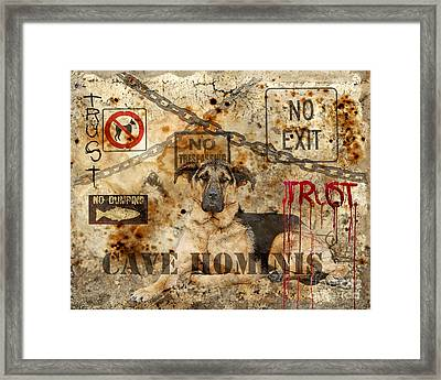 Cave Hominis Framed Print by Judy Wood