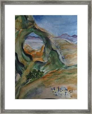 Cave In The Desert Framed Print