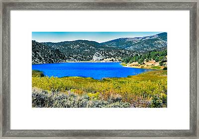 Cave Lake Framed Print by Robert Bales