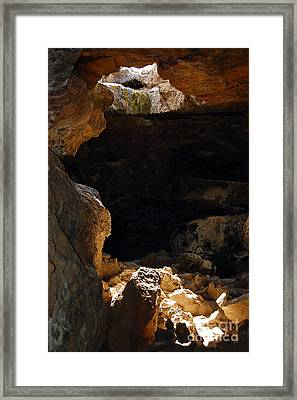 Framed Print featuring the photograph Cave Light by Debra Thompson