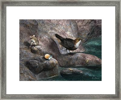 Cave Mouse And Friends Framed Print by Gary Hanna