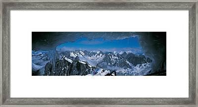 Cave Mt Blanc France Framed Print