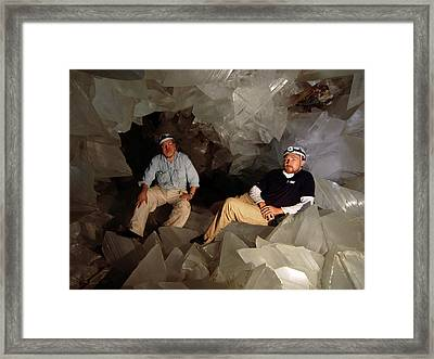 Cave Of Crystals Framed Print