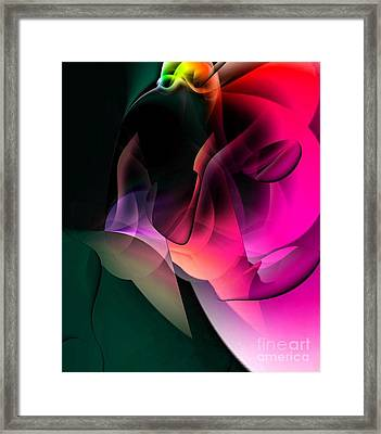 Cave Of The World Of Color By Nico Bielow Framed Print by Nico Bielow