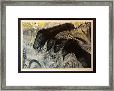Cave Painting Framed Print by Margaret Pappas