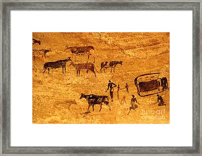 Cave Painting South Algeria Framed Print by George Holton