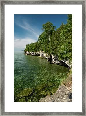 Cave Point County Park Framed Print