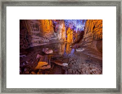 Cave Reflection Framed Print