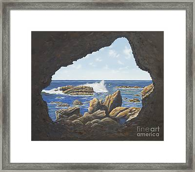 Cave View Framed Print