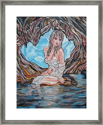 Cave Woman Framed Print by Lorinda Fore