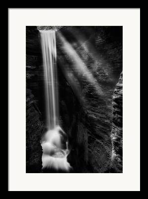 Finger Lakes Trail.cavern Cascade Framed Prints