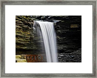 Cavern Cascade Framed Print by Frozen in Time Fine Art Photography