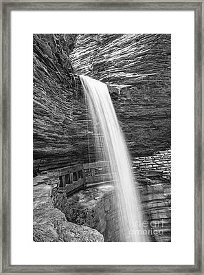 Cavern Cascade Watkins Glen Framed Print