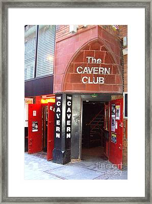 Cavern Club Entrance Mathew Street Liverpool Uk Framed Print