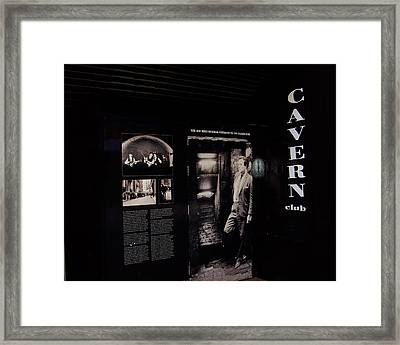 Cavern Club Original Doorway Liverpool Uk Framed Print by Steve Kearns